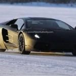 La nuova Lamborghini Jota scoperta sulla neve