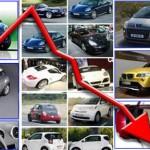 In forte calo il settore automobilistico in Italia