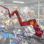 Grave calo mercato moto